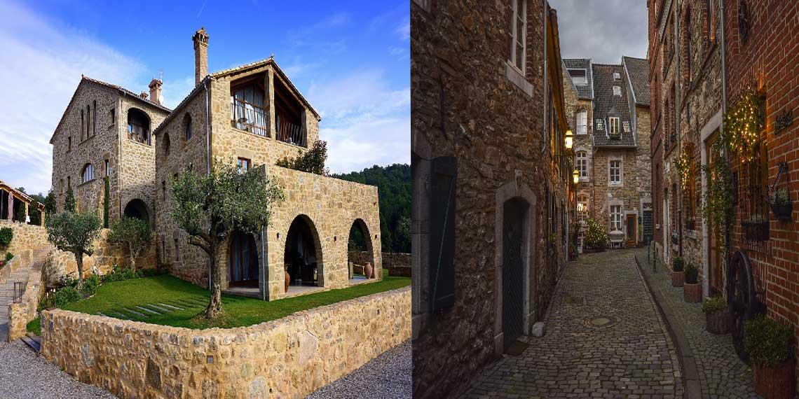 doğal taş kaplaması ile ev mimarileri nelerdir