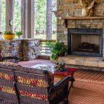oturma odalarında doğal taş mimarisi